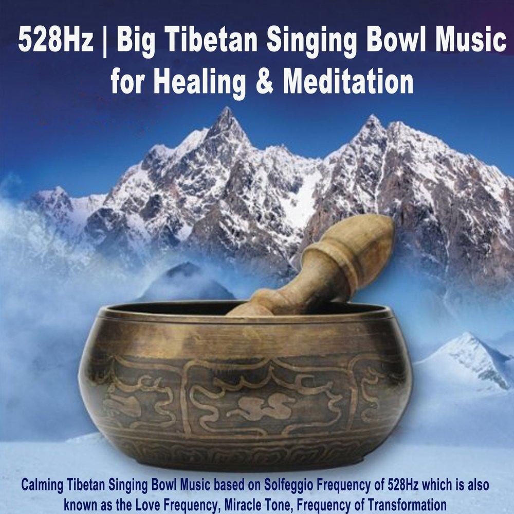528Hz Big Tibetan Singing Bowl Music for Healing