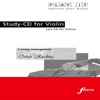 Play It - Study-Cd for Violin: Oskar Rieding, 6 Leichte Vortragsstücke — PLAY IT