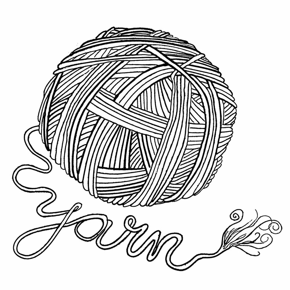 yarn coloring pages - 1000×1000