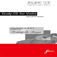 Play It - Study-Cd for Violin: Heinrich E. Kayser, Kinder-Sonatine, Op. 58, No. 2, G Major / G-Dur — PLAY IT, PLAY IT.