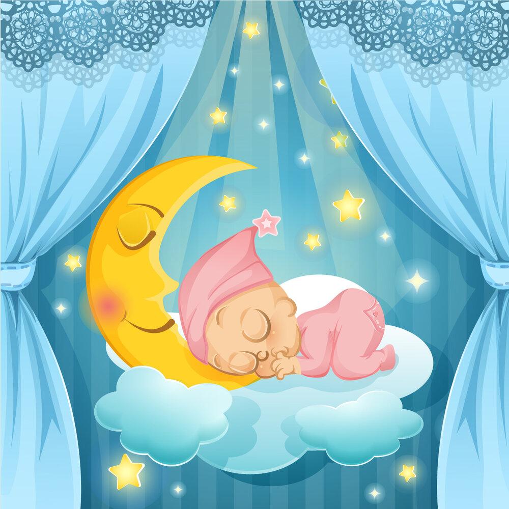 Красивые открытки, картинки спящие дети для детей