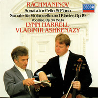 Rachmaninov: Cello Sonata; Romance; Vocalise etc — Владимир Ашкенази, Lynn Harrell