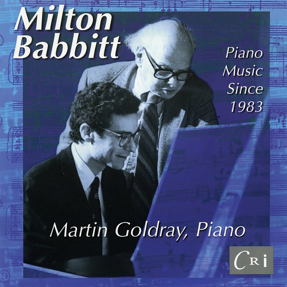 the music of milton babbitt That milton babbitt is a composer i should hear i figured out several years ago when i became interested in contemporary classical music babbitt was an american pioneer, taking the 12-tone music of schoenberg and webern further into total, or integral, serialism.