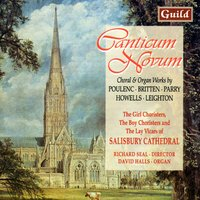 Canticum Novum - Choral & Organ Works by Poulenc, Britten, Parry, Howells, Leighton — Франсис Пуленк, Richard Lloyd, Бенджамин Бриттен, Barry Rose, John Gardner, Herbert Howells, Kenneth Leighton, Philip Moore