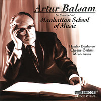 Artur Balsam in Concert at the Manhattan School of Music — Artur Balsam
