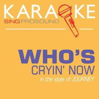 Who's Cryin' Now (In the Style of Journey) — Karaoke