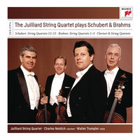 The Juilliard String Quartet plays Schubert & Brahms — Juilliard String Quartet, Isidore Cohen, Raphael Hillyer, Robert Mann, Claus Adam, Joel Krosnick