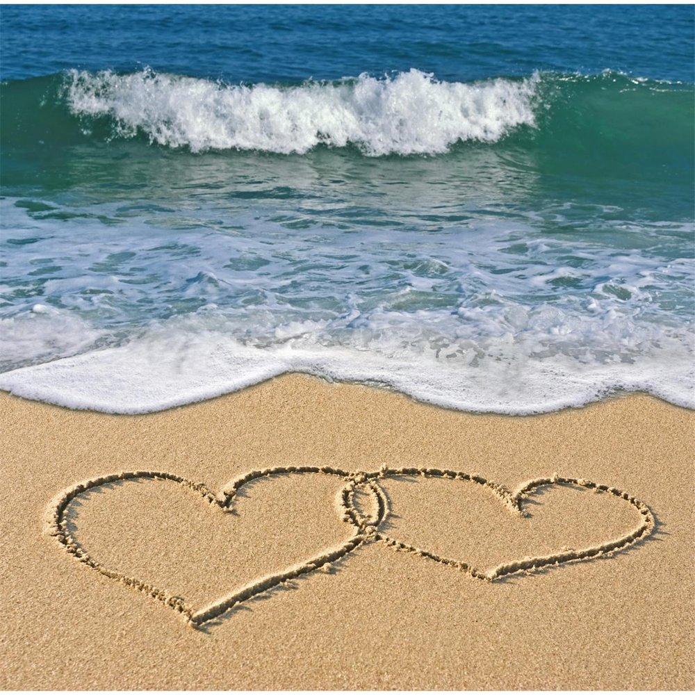 Картинки сердца на песке