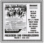 Preachers And Congregations Vol. 5 (1926-1931) — Various Artists - Document Records