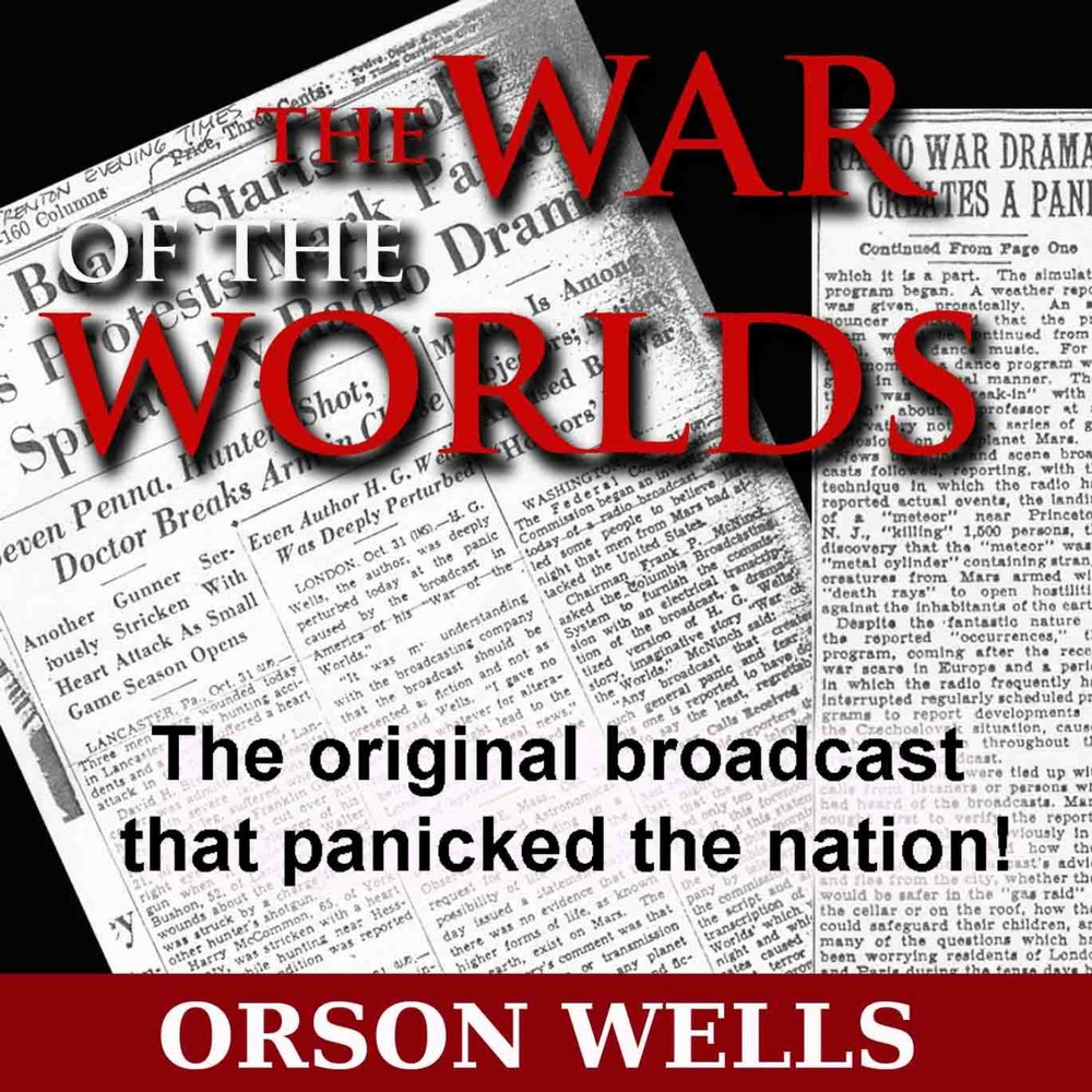 "a discussion about orson welles broadcast of war of the worlds Orson welles in 1938, rehearsing for ""the mercury theater on the air,"" the radio show behind his ""war of the worlds"" broadcast that same year."