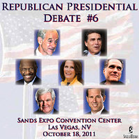 Republican Presidential Debate #6: Sands Expo Convention Center, Las Vegas, NV - 10/18/2011 — Rick Perry, Ron Paul, Rick Santorum, Newt Gingrich, Herman Cain, Mitt Romney