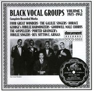 Black Vocal Groups Vol. 5 (1923-1941) — Various Artists - Document Records