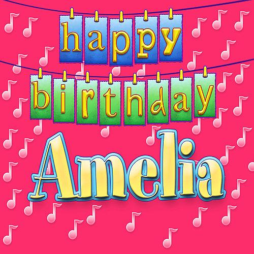 Поздравительные открытки детские с днем рождения с именем амелия