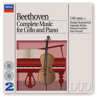 Beethoven: Complete Music for Cello and Piano — Святослав Рихтер, Мстислав Ростропович, Maurice Gendron, JEAN FRANCAIX