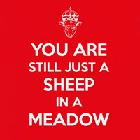 You Are Still Just a Sheep in a Meadow — Tannenbaum!