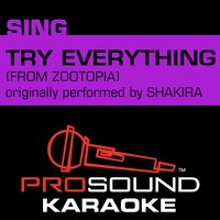 Try Everything (From Zootopia) — Karaoke