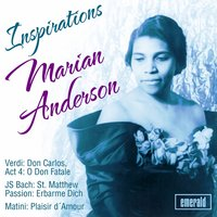 Inspirations — Marian Anderson