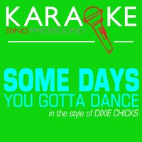 Some Days You Gotta Dance (In the Style of Dixie Chicks) — Karaoke