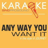 Any Way You Want It (In the Style of Journey) — Karaoke