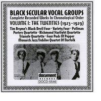 Black Secular Vocal Groups Vol. 1: The Twenties (1923-1929) — Various Artists - Document Records