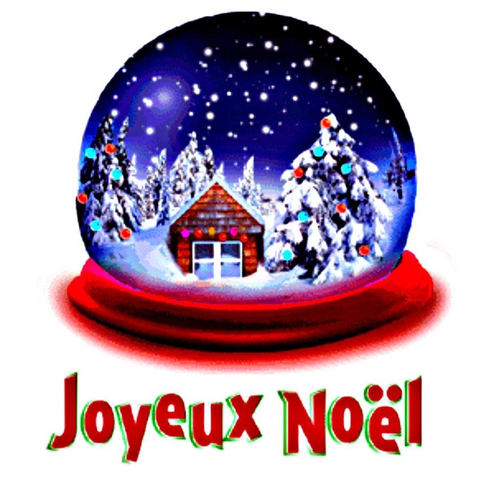 Открытка с рождеством на французском