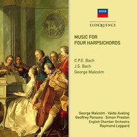 Music For Four Harpsichords — Geoffrey Parsons, English Chamber Orchestra, Valda Aveling, Simon Preston, George Malcolm, Raymond Leppard