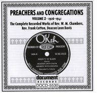 Preachers And Congregation Vol. 2 (1926-1941) — Various Artists - Document Records