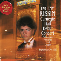 Evgeny Kissin at Carnegie Hall, New York City, September 30, 1990 — Evgeny Kissin
