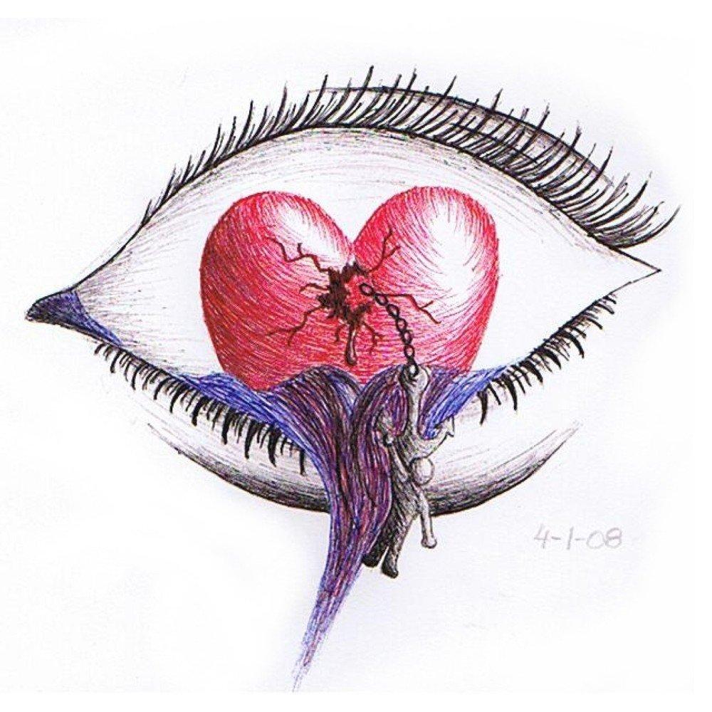 картинки как нарисовать разбитое сердце моя старшенькая