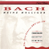 Bach, J.S.: 6 Trio Sonatas BWV 525-530 — Heinz Holliger & Chamber Orchestra of Europe, Tabea Zimmerman, Christiane Jaccottet, Thomas Demenga