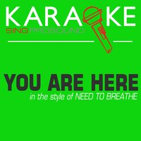 You Are Here (In the Style of Need to Breathe) — Karaoke