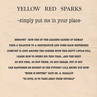 Simply Put Me in Your Place EP — Yellow Red Sparks