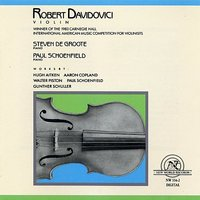 Aitken/Copland/Piston/Schoenfield/Schuller: Works for Violin — Steven De Groote, Paul Schoenfield, Robert Davidovici