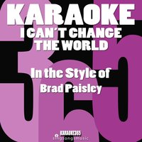 brad paisley i cant change the world meaning