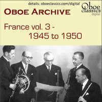 Oboe Archive, France, Vol. 3 — Tomasi etc