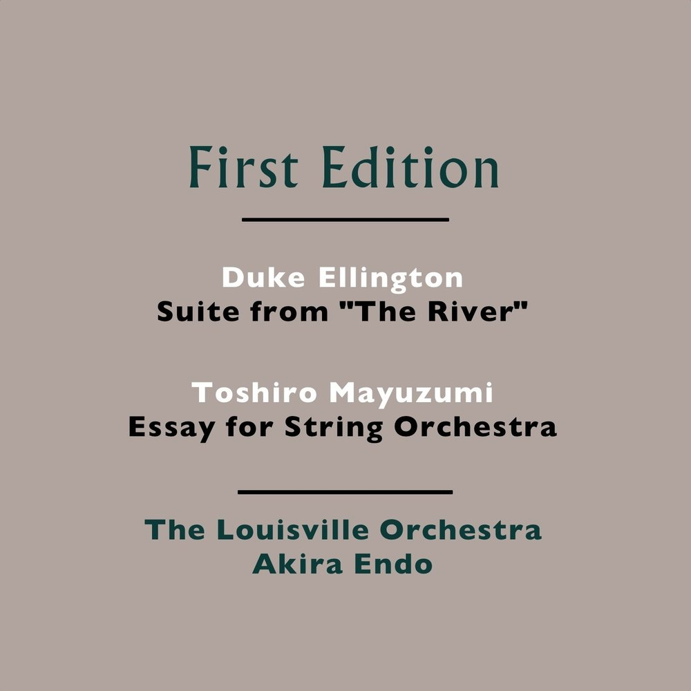 Environmental Science Essays Duke Ellington Suite From The River  Toshiro Mayuzumi Essay For String  Orchestra  The Louisville Orchestra And Akira Endo       Persuasive Essay Topics High School also Personal Essay Examples High School Duke Ellington Suite From The River  Toshiro Mayuzumi Essay For  What Is Thesis In An Essay