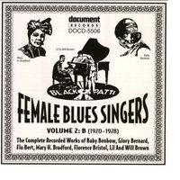Female Blues Singers Vol. 2 B (1920-1928) — Various Artists - Document Records