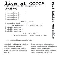 Live From Occca — Paul Bailey Ensemble