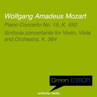 Green Edition - Mozart: Piano Concerto No. 15, K. 450 & Sinfonia concertante for Violin, Viola and Orchestra, K. 364 — Вольфганг Амадей Моцарт, Peter Frankl, Jörg Faerber, Württemberg Chamber Orchestra