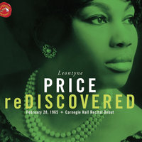 Leontyne Price Rediscovered Carnegie Hall Recital — Leontyne Price