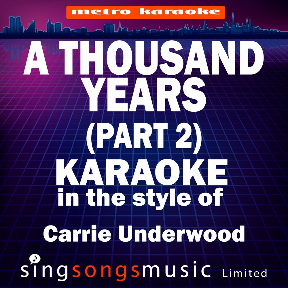 A Thousand Years (Part 2) [In The Style Of Christina Perri