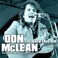 Live in New York 1974 — Don McLean
