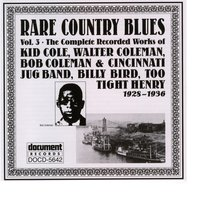 Rare Country Blues Vol. 3 (1928-1936) — Various Artists - Document Records