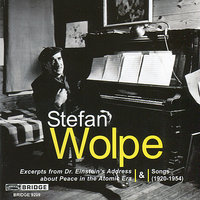 Wolpe: Songs (1920-1954) — Robert Shannon, Patrick Mason, Tony Arnold, Jacob Greenberg, Susan Grace, Leah Summers