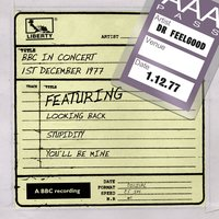 Dr Feelgood - BBC In Concert (1st December 1977) — Dr. Feelgood, Dr Feelgood