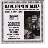 Rare Country Blues Vol. 4 (1929-c.1953) — Various Artists - Document Records