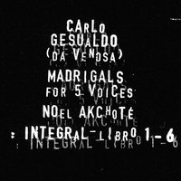 Carlo Gesualdo : Integral Madrigals for Five Voices : Libro 1 - 6 — Джезуальдо да Веноза, Noël Akchoté, Carlo Gesualdo, Noël Akchoté