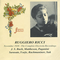 Ruggiero Ricci November 1938 - The Complete Electrola Recordings — Пабло де Сарасате, Ruggiero Ricci, Carl Fürstner