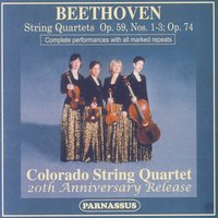 Beethoven Qts. Opp. 59 & 74, Colorado String Quartet - 20th Anniversary Release — Colorado String Quartet