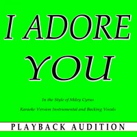 I Adore You (In the Style of Miley Cyrus) — Playback Audition